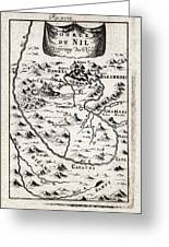 1719 Mallet Map Of The Source Of The Nile Ethiopia Abyssinia Geographicus Nil Mallet 1719 Greeting Card