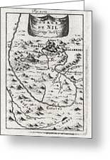 1719 Mallet Map Of The Source Of The Nile Ethiopia Greeting Card by Paul Fearn