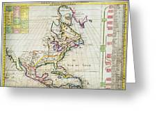 1720 Chatelain Map Of North America Geographicus Amerique Chatelain 1720 Greeting Card