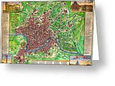 1721 John Senex Map Of Rome Geographicus Rome Sennex 1721 Greeting Card