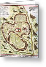 1730 Street Map Or Plan Of Jerusalem Geographicus Jerusalem Uk 1730 Greeting Card