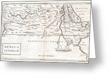 1730 Toms Map Of Central Africa Greeting Card