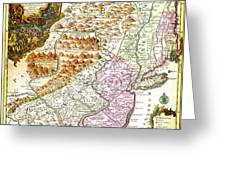 1756 Lotter Map Of Pennsylvania New Jersey New York Geographicus Pensylvanianovajersey Lotter 1756 Greeting Card