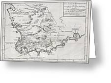 1757 Bellin Map Of South Africa And The Cape Of Good Hope Greeting Card by Paul Fearn