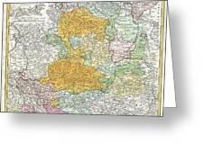 1761 Homann Heirs Map Of Westphalia  Greeting Card
