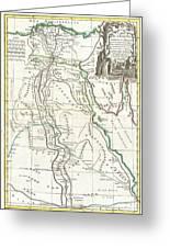 1762 Bonne Map Of Egypt  Greeting Card