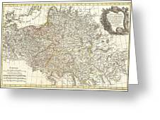 1771 Zannoni Map Of Poland And Lithuania Greeting Card