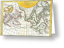 1772 Vaugondy And Diderot Map Of The Pacific Northwest And The Northwest Passage Greeting Card by Paul Fearn