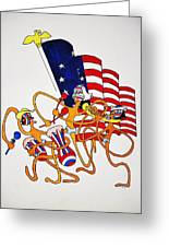 1776 Happy People Greeting Card by Glenn Calloway