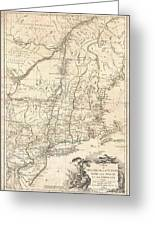 Revolutionary War Map Of New York.1777 Brion De La Tour Map Of New York And New England Revolutionary