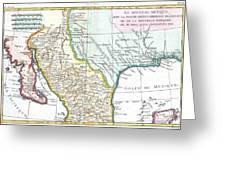 Map Of Texas New Mexico.1780 Bonne Map Of Texas Louisiana And New Mexico By Paul Fearn