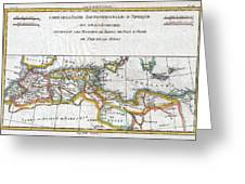 1780 Raynal And Bonne Map Of The Barbary Coast Of Northern Africa Greeting Card