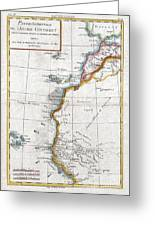 1780 Raynal And Bonne Map Of Western Africa Greeting Card