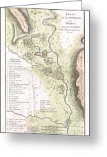 1783 Bocage Map Of The Topography Of Sparta Ancient Greece And Environs Greeting Card