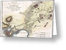 1784 Bocage Map Of The City Of Athens In Ancient Greece Greeting Card