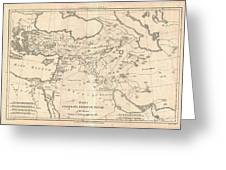1787 Bonne Map Of The Dispersal Of The Sons Of Noah Greeting Card
