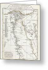 1794 Anville Map Of Ancient Egypt  Greeting Card