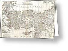 1794 Anville Map Of Asia Minor In Antiquity Greeting Card