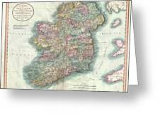 1799 Cary Map Of Ireland  Greeting Card