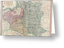 1799 Cary Map Of Poland Prussia And Lithuania  Greeting Card