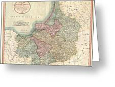 1799 Cary Map Of Prussia And Lithuania  Greeting Card