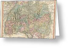 1799 Cary Map Of Swabia Germany Greeting Card
