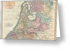 1799 Cary Map Of The Netherlands Greeting Card