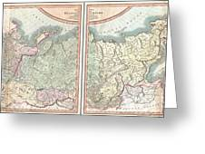1799 Cary Map Of The Russian Empire Greeting Card