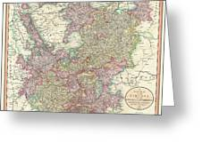 1799 Cary Map Of The Upper And Lower Rhine Greeting Card