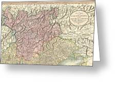 1799 Cary Map Of Tyrol Greeting Card