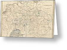 1799 Celement Cruttwell Map Of Germany Greeting Card