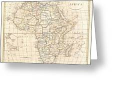 1799 Clement Cruttwell Map Of Africa  Greeting Card