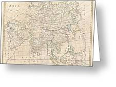 1799 Clement Cruttwell Map Of Asia Greeting Card