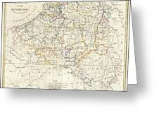 1799 Clement Cruttwell Map Of Belgium Or The Netherlands Greeting Card