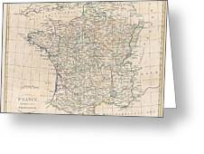 1799 Clement Cruttwell Map Of France In Provinces Greeting Card