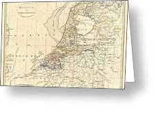 1799 Clement Cruttwell Map Of Holland Or The Netherlands Greeting Card