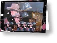 21 Duke's John Wayne Cardboard Cutout Collage Tombstone  Arizona 2004-2009 Greeting Card