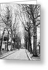 Pere-lachais Cemetery In Paris France Greeting Card