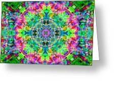 Rainbow Light Mandala Greeting Card