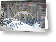 San Diego Chargers Greeting Card by Joe Hamilton