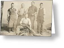 1800's Vintage Photo Of Blacksmiths Greeting Card