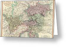 1801 Cary Map Of Austria Greeting Card