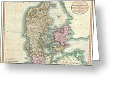 1801 Cary Map Of Denmark Greeting Card