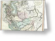 1801 Cary Map Of Persia  Iran Iraq Afghanistan Greeting Card