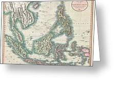 1801 Cary Map Of The East Indies And Southeast Asia  Singapore Borneo Sumatra Java Philippines Greeting Card