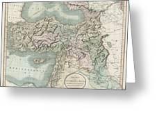 1801 Cary Map Of Turkey Iraq Armenia And Sryia Greeting Card