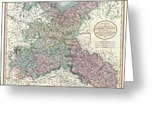 1801 Cary Map Of Upper Saxony Germany  Berlin Dresden Greeting Card