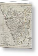 1804 German Edition Of The Rennel Map Of India Greeting Card