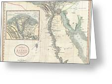 1805 Cary Map Of Egypt Greeting Card