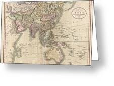 1806 Cary Map Of Asia Polynesia And Australia Greeting Card